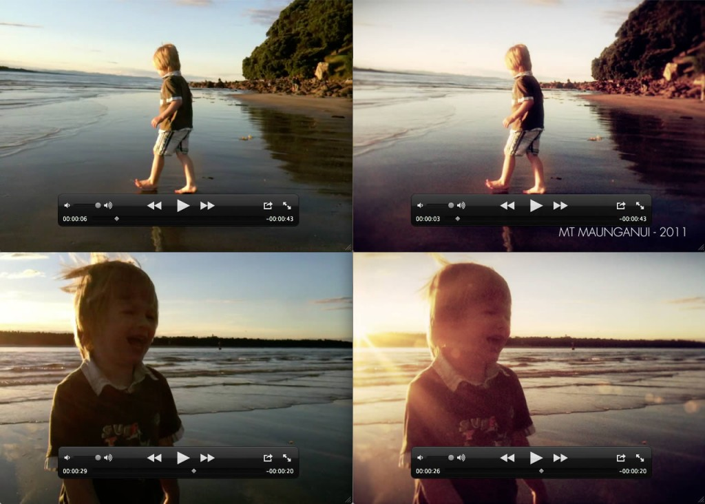 Comparison of video color adjustment